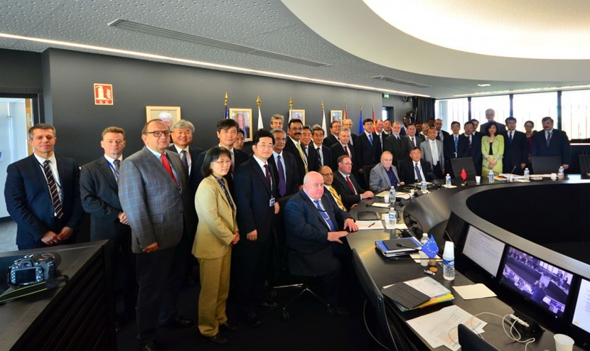 Senior representatives from the seven ITER Members—China, the European Union, India, Japan, Korea, Russia, and the United States—gather for the eighteenth meeting of the ITER Council on 15-16 June 2016 under the chairmanship of Won Namkung from Korea. (Click to view larger version...)