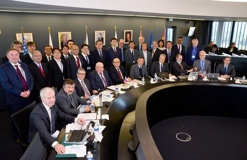 Senior representatives from the seven ITER Members—China, the European Union, India, Japan, Korea, Russia, and the United States—gather for the nineteeth meeting of the ITER Council on 16-17 November under the chairmanship of Won Namkung from Korea. (Click to view larger version...)