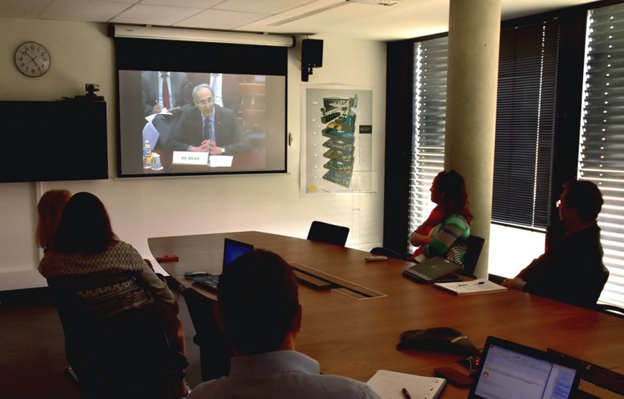 Members Of The Cabinet Director General Watch Live Feed From Energy