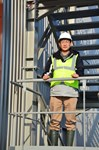 Byung Su Lim, leader of ITER's Poloidal Field Coil Section, posing in front of the completed winding facility.