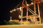 The dummy conductor for ITER's toroidal field coils arrives in the port of Hibiki, Japan ...
