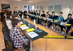 "Fourteen students of ""Super Science"" high schools in Fukui Prefecture, in the Chubu region of Japan, visited ITER last Wednesday 14 March."