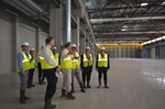 So far, only a few people have seen it from the inside. The Swedish delegation visits the Poloidal Field Coils Winding Facility.