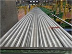 Jacket sections wait for final inspection at POSCO Specialty Steel.