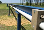 The 800-metre-long jacketing bench at High Performance Magnetics (Florida) runs parallel to a runway under renovation at the Tallahassee Regional Airport. Photo: High Performance Magnetics