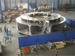 Pre-assembly of the 250-tonne cryostat base for JT-60SA in Aviles, Spain.