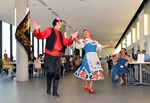 Veaceslav Tokarev and Helen Guillaumin, of Marseille's Alliance franco-russe gave a spectacular demonstration of traditional Russian dances.