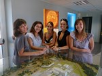 Who doesn't want a site tour? The team from left to right: Sylvie, Anaïs, Véronique, Alexia and Marina.