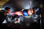 A physics student studying plasma behaviour at the Princeton Plasma Physics Laboratory. (Photo: Peter Ginter)