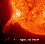 Large solar flares, like those observed in 2003 and expected again in the coming years, can account for 16% of the total energy that the Sun outputs every second.