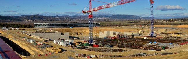 On a cristal-clear mid-December afternoon, the view from the ITER site extends to the snowcapped summit of the Montagne de Lure.